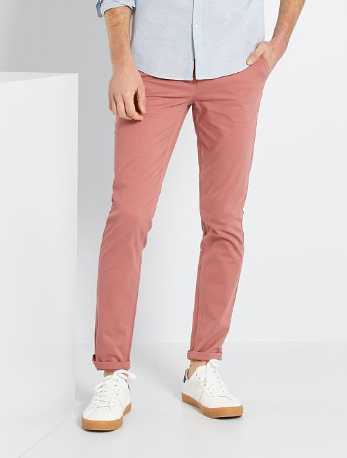 Pantalón slim eco-concepción                                                                                                                                                                                                                                                                                                                                                                                         ROSA