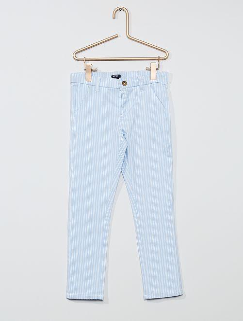 Pantalón slim elástico                                                     AZUL