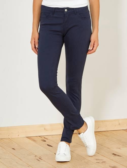 Pantalón slim elástico con 5 bolsillos                                                                                                                                                                 azul Mujer talla 34 a 48