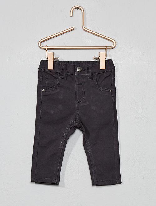 Pantalón slim elástico                                                     gris oscuro Bebé niño
