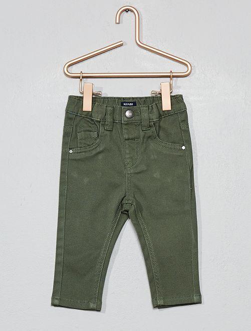 Pantalón slim elástico                                                     verde tomillo Bebé niño