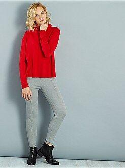Pantalones de vestir - Pantalón slim estampado efecto lana