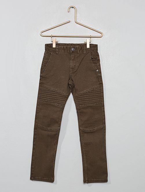 Pantalón slim estilo 'biker'                                                     GRIS