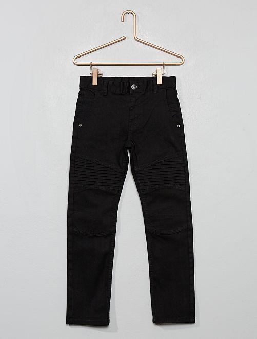 Pantalón slim estilo 'biker'                                                     negro