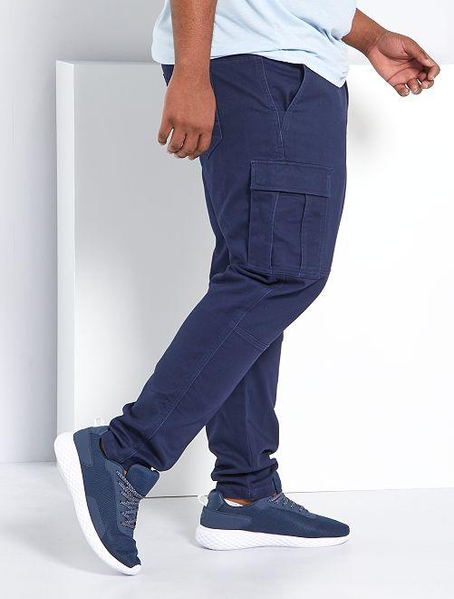 Pantalón slim estilo cargo                                         AZUL