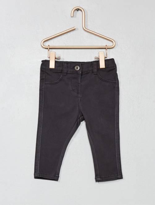 Pantalón slim                                             gris oscuro Bebé niña