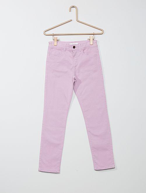 Pantalón slim liso                                                                                         malva claro