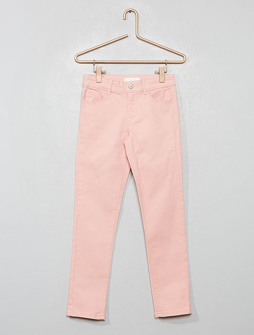 Pantalón slim liso                                                                                         rosa