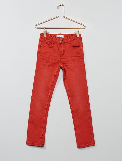 Pantalón slim                                                                                                                                                                                         rojo ocre
