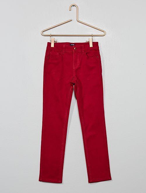 Pantalón slim                                                                             rojo oscuro