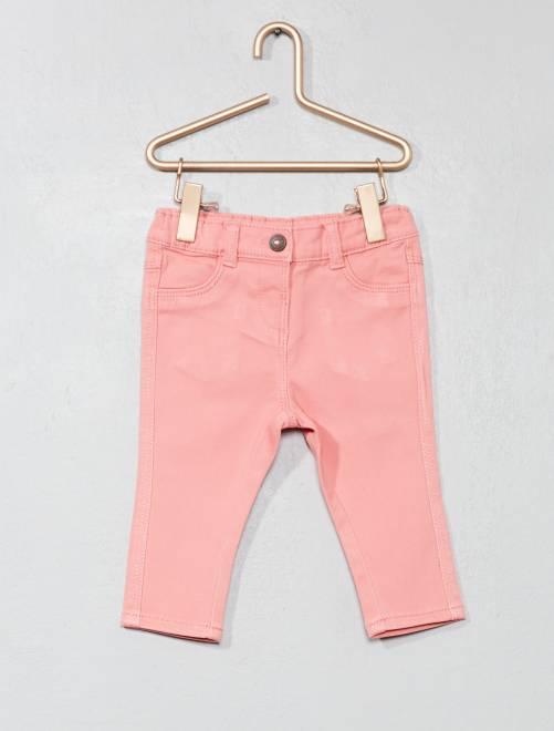 Pantalón slim                                                                                         rosa Bebé niña