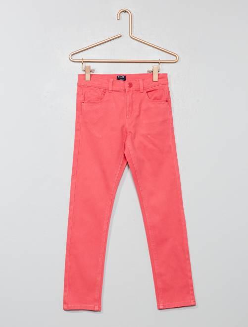 Pantalón slim                                                                                                                                         rosa Chica