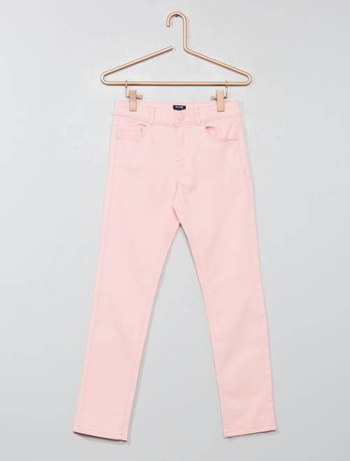 Pantalón slim                                                                                                                                         rosa polvo Chica