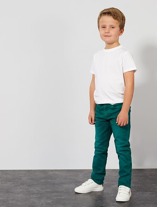 Pantalón slim                                                                                                                                 verde profundo