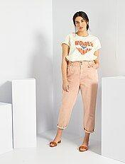 Pantalones Mujer Rosa Kiabi