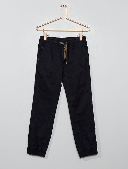 Pantalón tipo jogger                             negro