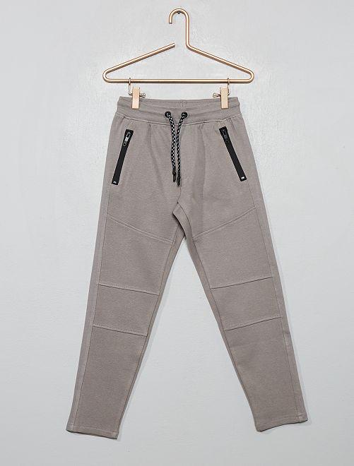 Pantalón tipo jogging de piqué de felpa                                                                 GRIS