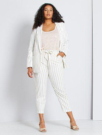 Pantalones De Vestir Para Mujer En Tallas Grandes Baratos Moda Tallas Grandes Mujer Kiabi
