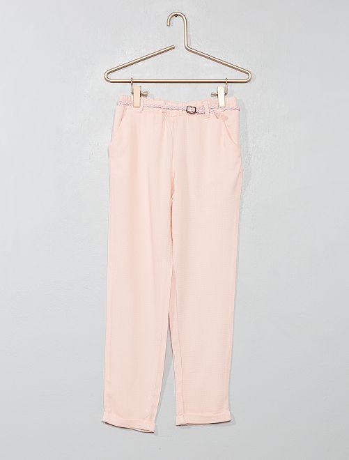 Pantalón vaporoso + cinturón                                                                                         rosa claro Chica