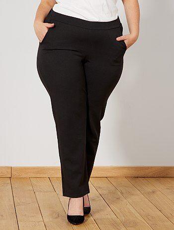 ac148d4554f2 Tallas grandes mujer - Pantalón vaporoso con cintura elástica - Kiabi