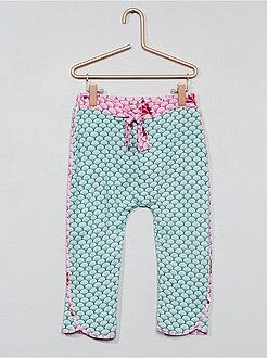 Pantalón vaporoso con estampado japonés - Kiabi
