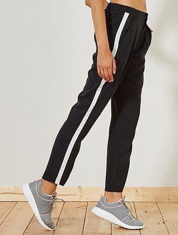 Pantalón vaporoso con franjas laterales - Kiabi