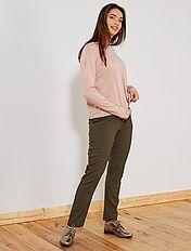 Pantalón vaporoso con pinzas