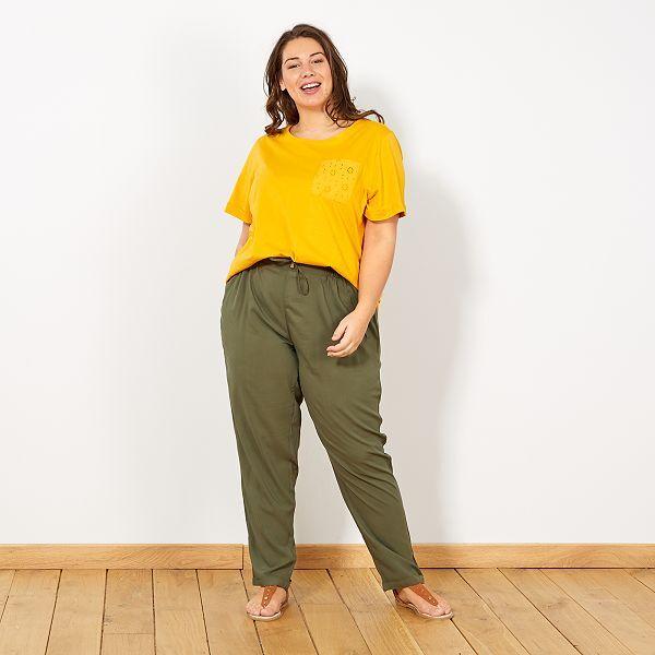 detallado comprar online precio moderado Pantalón vaporoso de viscosa