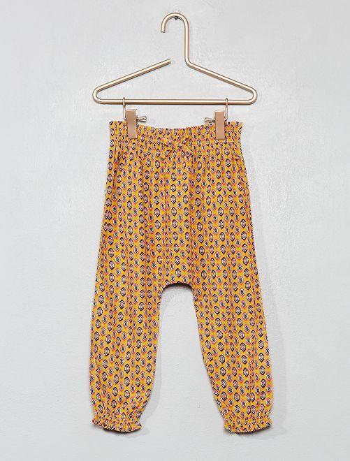 Pantalón vaporoso estampado                                                     AMARILLO Bebé niña