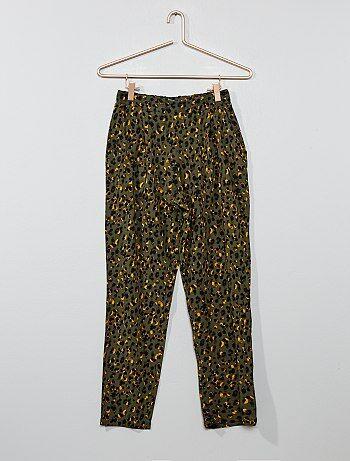 a8032cecd Niña 10-18 años - Pantalón vaporoso estampado - Kiabi