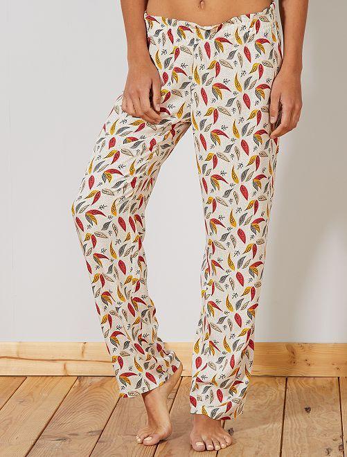 Pantalón vaporoso estampado                                         multicolor Lencería de la s a la xxl