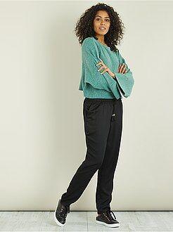 Mujer - Pantalón vaporoso estampado - Kiabi