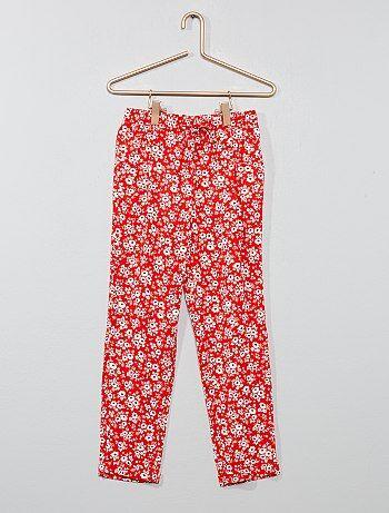 8f9bbba317c Niña 3-12 años - Pantalón vaporoso estampado - Kiabi