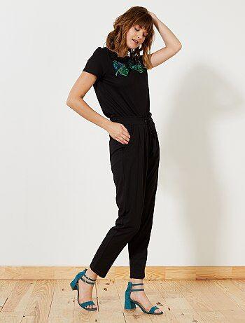 Mujer talla 34 to 48 - Pantalón vaporoso 'JDY' - Kiabi