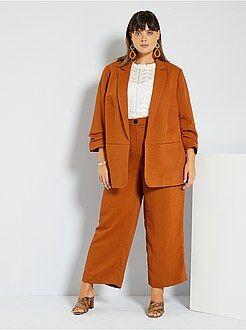 Tallas grandes mujer - Pantalón vaporoso - Kiabi