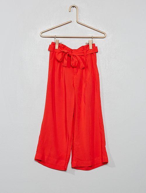 Pantalón vaporoso                                         ROJO