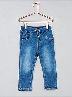 Pantalones, vaqueros, calzoncillos - Pantalón vaquero de punto cómodo - Kiabi