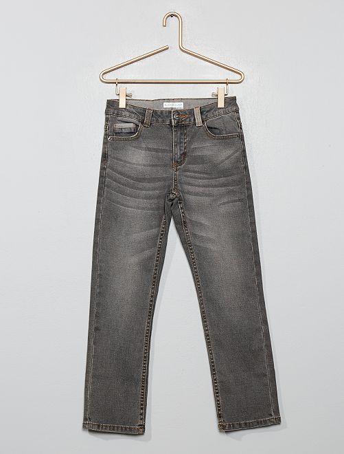 Pantalón vaquero descolorido                                         GRIS