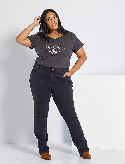 Pantalón vaquero elástico largo 82 cm                                                     denim black