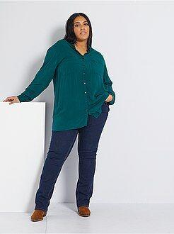 Tallas grandes mujer Pantalón vaquero elástico largo 82 cm