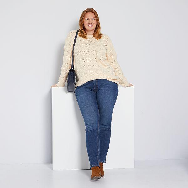 online gran descuento venta precio favorable Pantalón vaquero elástico largo 82 cm