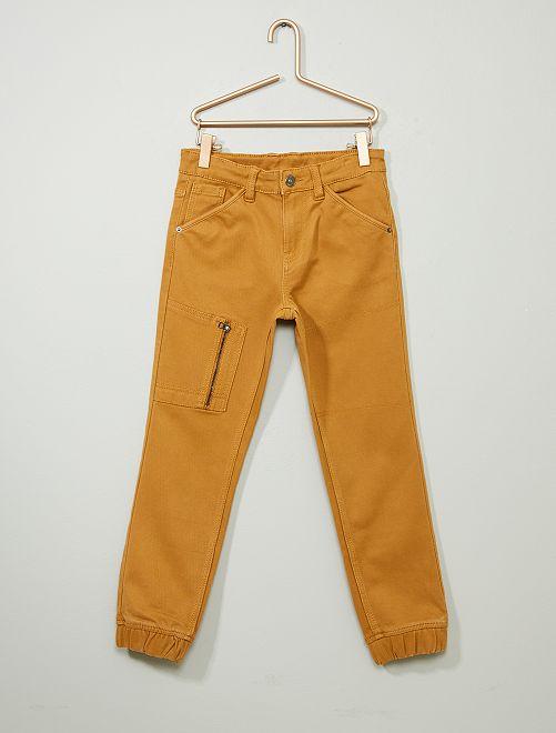 Pantalón vaquero jogger                                                     BEIGE