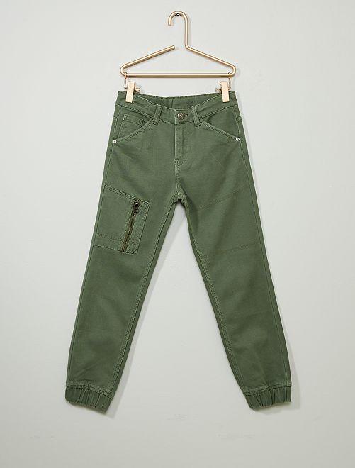 Pantalón vaquero jogger                                                     verde tomillo