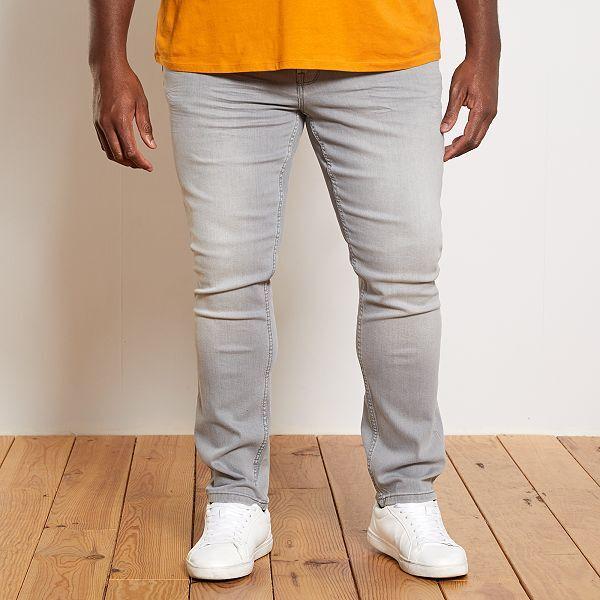 Pantalon Vaquero Regular Tallas Grandes Hombre Gris Kiabi 20 00