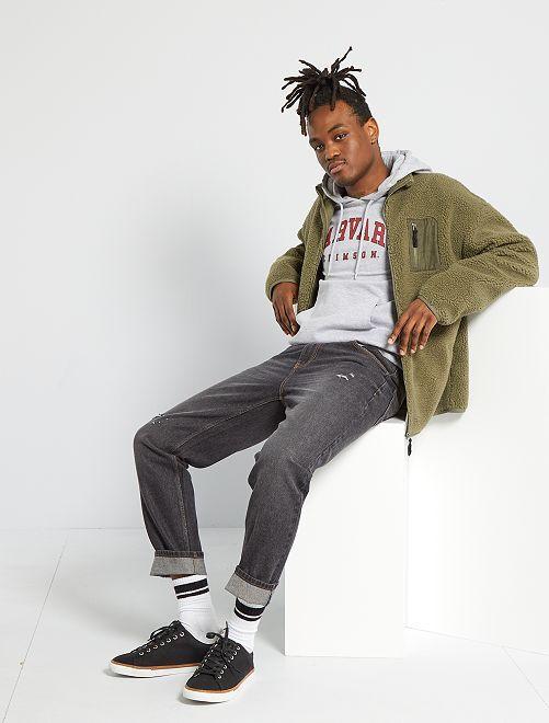 Pantalón vaquero slim de algodón                             NEGRO