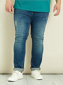 Pantalones - Pantalón vaquero slim tipo chino - Kiabi