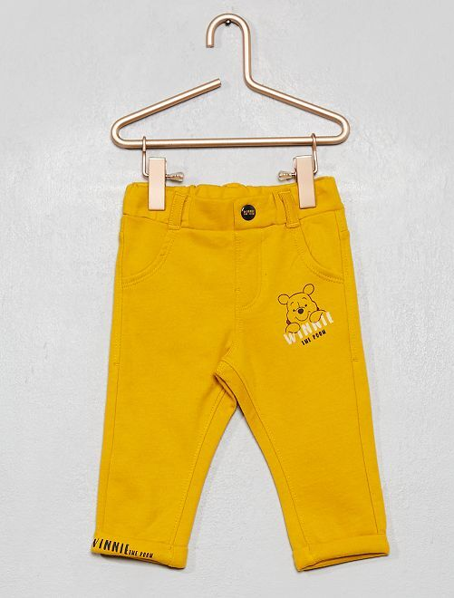 Pantalón 'Winnie' de felpa forrado                             AMARILLO