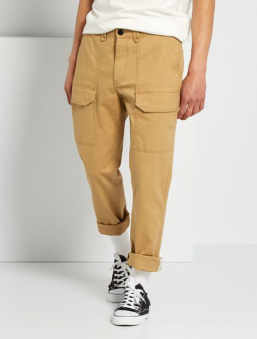 Pantalón workwear con bolsillos                                         BEIGE