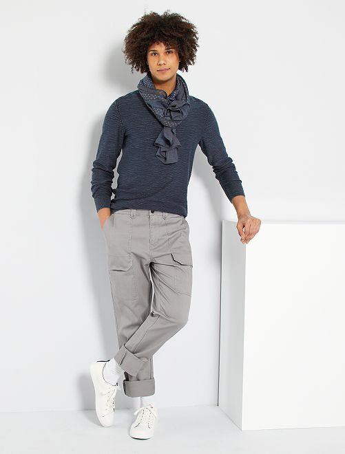 Pantalón workwear con bolsillos                                         GRIS