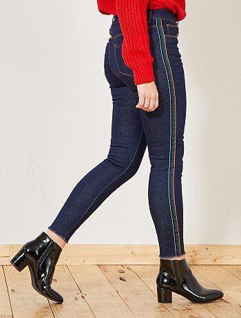 Pantalones skinny con banda de fantasía en los laterales - Kiabi